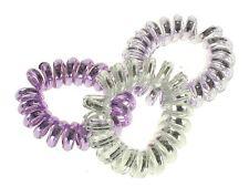 Lilac Metallic Telephone Cord Scrunchie Hair Bobbles Hair Accessories UK