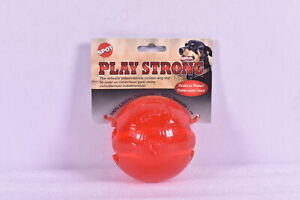 Spot Play Strong Floating Durable Rubber Ball Toy, Red