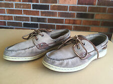 Sperry Top-Sider 9812736 Womens Sz 8M Beige Leather Boat Shoes             W5(5)