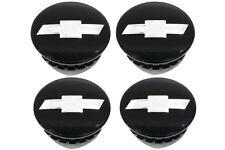 OEM NEW Wheel Hub Center Caps Set Black w/Chrome Bowtie 12-18 Chevrolet 22791586