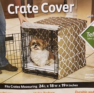 "New Pet Crate Cover 24""Lx18""Wx19""H Quiet Time Defender Midwest Machine Washable"