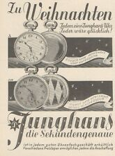 Y6738 JUNGHANS Taschenuhr - Pubblicità d'epoca - 1929 Old advertising