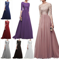 Women Formal Dress Maxi Dresses Prom Gown Bridesmaid Toast Wedding Long Dress