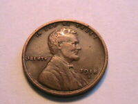 1918-S Lincoln One Cent Solid Very Fine VF Brown Original Wheat 1 Penny US Coin