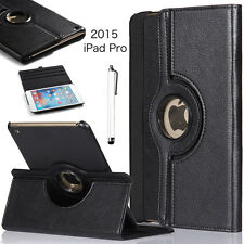 "For 9.7"" iPad 2 iPad 3 iPad 4 Rotating Magnetic Leather Case Smart Cover +Gifts"