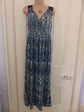 Lovely M&S Indigo Collection blue mix size 10 maxidress navy lace at the back
