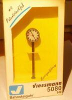 Viessmann 5080 H0 Uhr / Bahnsteiguhr mit Beleuchtung NEUWERTIG Epoche 3/6 i.OVP