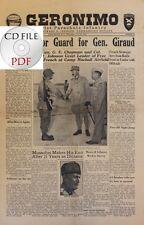 CD File 2x Geronimo 1943 7 501st Parachute Infantry Camp Mackall NC Gen. Giraud