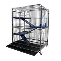 Large Ferret Cage Metal Rabbit Guinea Pig Degus House Chinchilla Cat Home Wheels