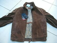 NEW BNWT Mens M&S BLUE HARBOUR brown suede real leather COAT JACKET small 36 38""