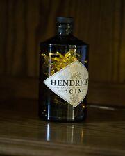 Upcycled Modern Cool Hendricks Gin Bottle Lamp Light - by iluvlamp