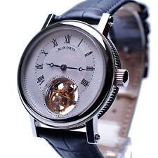 MINORVA 1-Min.Real Flying Tourbillon Watch Stainless Steel