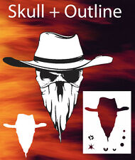 Skull 3 Special Two Layer Airbrush Stencil Spray Vision Template air brush