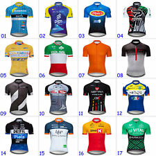 Mens Team Cycling Jersey Race Short Sleeve Bike Shirt Cycling Tops Bicycle Wear