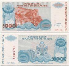 AA prefix Croatia Srpska Krajina 10 Dinara 1992 UNC P-R1 Yugoslavia War