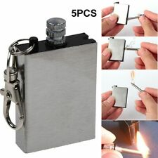 5Pcs Metal Match Lighter Zippo Lighter Fluid Waterproof Fire Starter Keychain US