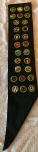1950's boy scout (explorer) merit badge sash + NRA, Wilderness Canoe & Philmont