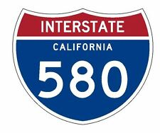 Interstate 580 Sticker R2096 California Highway Sign Road Sign