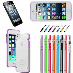 For iPhone 5 / 5S /SE Ultra Thin Transparent Crystal Clear Hard TPU Case Cover
