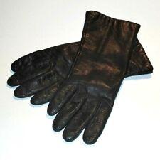 Vintage Genuine Leather Gloves Dark Brown Aris LinedWomen's Size 7