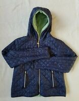 FLY 1986 Women's Blue Hooded Fully Zipped Quilted Padded Jacket. Size XXL.UK 16.