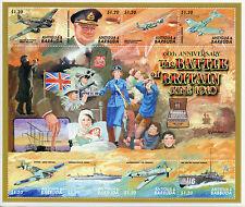 Antigua & Barbuda 2000 Gomma integra, non linguellato SECONDA GUERRA MONDIALE BATTAGLIA D'INGHILTERRA 60th 8v M/S I FRANCOBOLLI Churchill