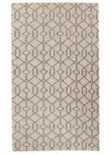 8x10 Rectangle Area Rug Naturals 100% Sisal Charcoal Gray & bone White