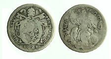pcc1834_3) Pio VI (1774-1799) Doppio Giulio IV Tipo 1792 Raro gr 4,94