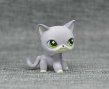 Littlest Pet Shop Loose Purple Short Hair Cat Green Eyes LPS Toy #2094