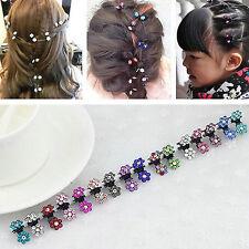 20 Stück Mini-Haarspangen für Frauen, Mädchen, Haar-Clips Blumen Gemischt CLAW
