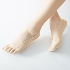 Women's Five Finger Socks Breathable Toe Socks Invisible Solid Color Ultrathin