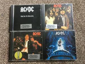 CD'S JOBLOT X4 AC DC ALBUMS HIGHWAY TO HELL BLOOD BACK IN BLACK BALLBREAKER