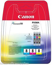 Canon CLI8 Multi Pack CMY Canon Cli-8 Cyan Cli-8 Magenta Cli-8 Yellow Brand New