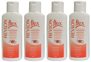 4x REVLON FLEX PROTECTIVE CONDITIONER 400ML NEW