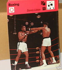 Sonny Liston v floyd patterson Boxing Collector card