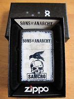 Zippo SAMCRO of Anarquía SOA Craw Calavera Reaper Crew Hombre Mayhem ORIGINAL