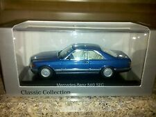 Minichamps Mercedes 560 SEC Blue color Dealer Edition  From Europe RARE Last One