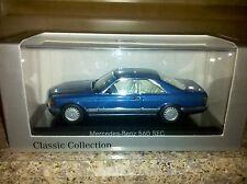 Minichamps Mercedes 560 SEC Blue color Dealer Edition  From Europe RARE Last One