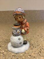 2001 Berta Hummel Goebel A Gift For Snowman Figurine BH92/P  NO BOX