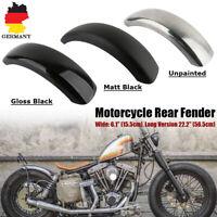 6.1'' Motorrad Kotflügel Schutzblech Hinten Heckfender Metall 56.5cm Für Harley