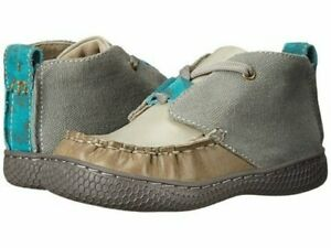 New LIVIE & LUCA Shoes Rover Gray Tan Blue Toddler 4  Read