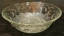 Bartlett Collins Manhattan Clear Glass Large Serving Bowl Flat Edge