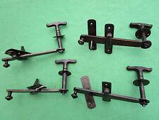 4 clenches poignée rosace ronde mentonnet fer ancienne barre 17 cm porte