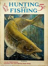 Vintage Hunting & Fishing Magazine July 1928 Great Cover Sporting Jem169