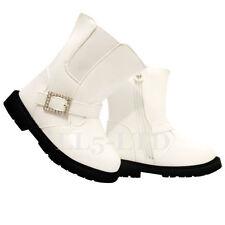 Chaussures blanches moyens à boucle pour fille de 2 à 16 ans