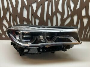 2016 2017 2018 BMW 7 SERIES RIGHT LED ADAPTIVE HEADLIGHT 7483910 GENUINE OEM