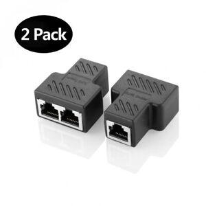 RJ45 Splitter Connecteurs Adaptateur 1 à 2 Ethernet Coupleur Double Prise...