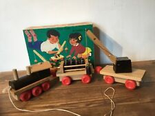 H.Eichhorn,  woonden train set , 1970s Original box RARE & COMPLETE