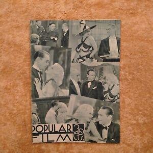 JEAN HARLOW Cover 1934 Alice WHITE Valerie HOBSON Henry WILCOXON M. DIETRICH
