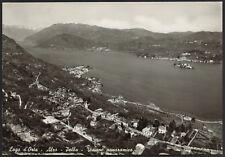 AD4459 Lago d'Orta (NO) - Alzo - Pella - Visione panoramica - Cartolina postale